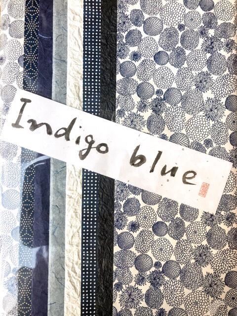 和紙 Indigo blue