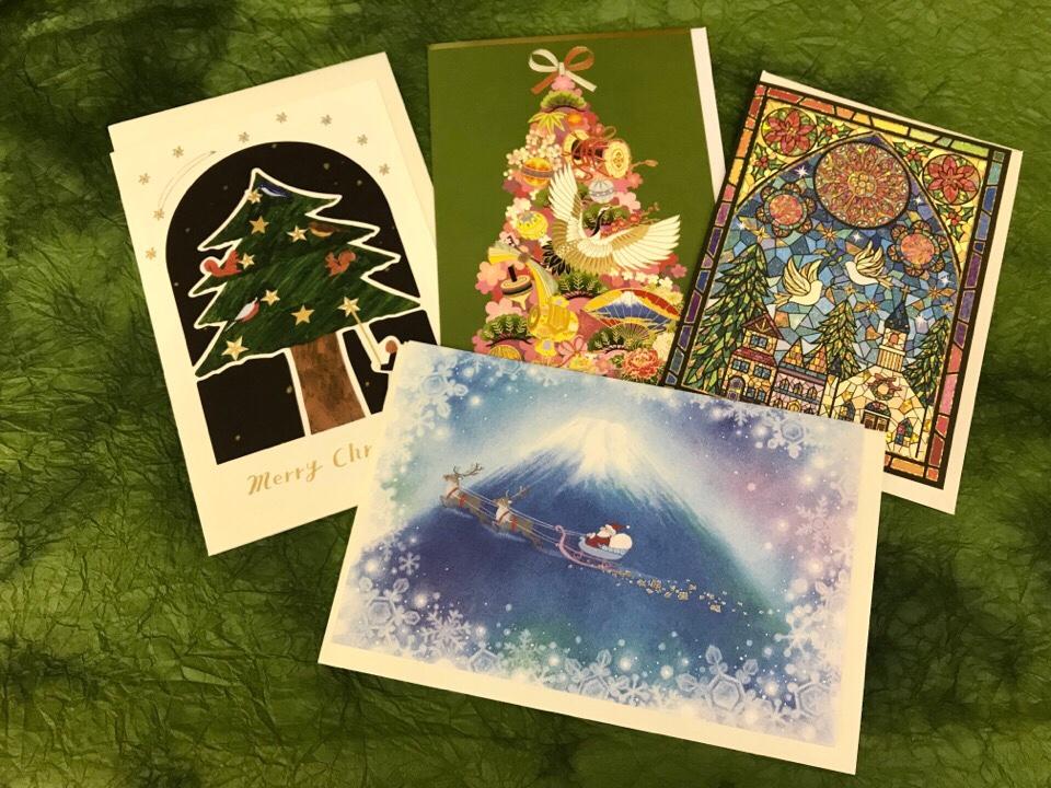 和風 クリスマスカード