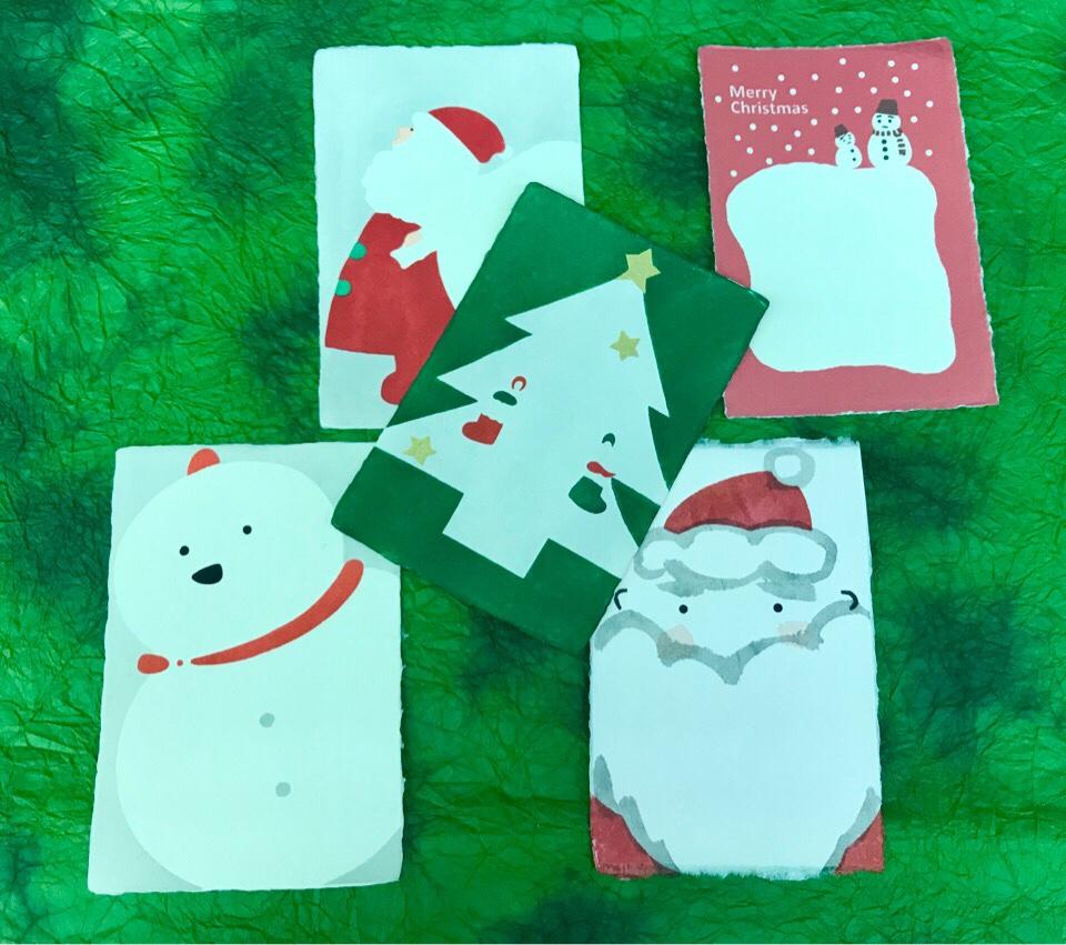 クリスマス 和紙 はがき