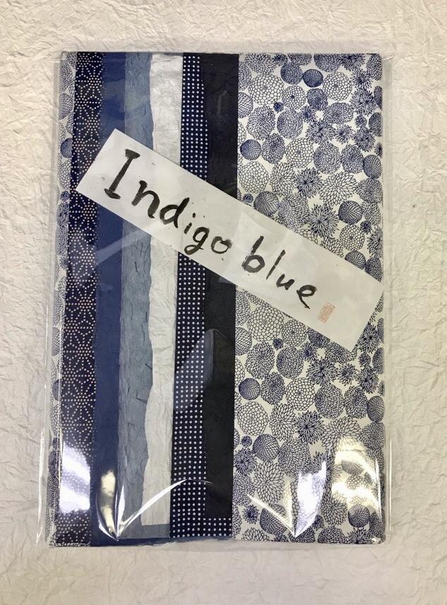 indigo blue 和紙