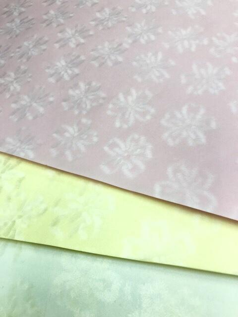越前和紙 漉き込み和紙 桜